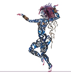 Abstract dance tattoo vector