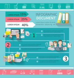 Document infographics set vector