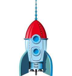 Comic space rocket vector