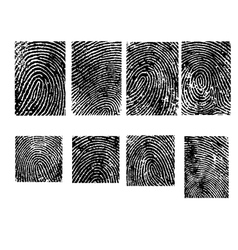 Fingerpinrt crops - 8 separate vector