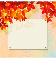 Autumn background with plastered wall billboard vector