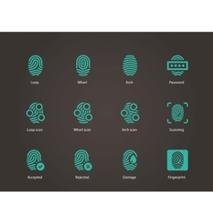 Fingerprint icons vector