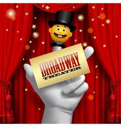 Broadway poster vector