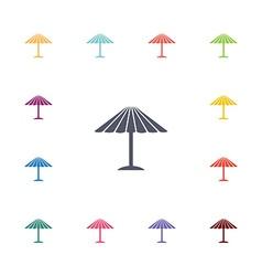 Parasol mask flat icons set vector