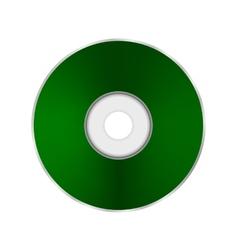 Green compact disc vector