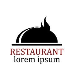 Dish icon for restaurant vector