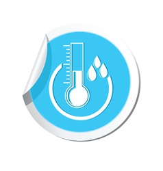 Weather forecast thermometer icon vector