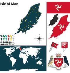 Isle of man map world vector