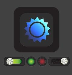 Weather icon sun vector
