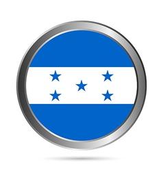 Honduras flag button vector