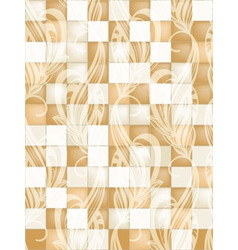 Seamless tile pattern with floral ornament vector