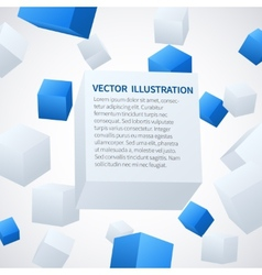 Abstract 3d cube background vector