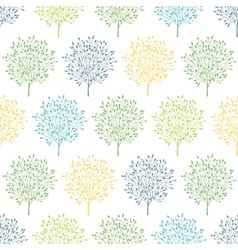 Summer trees colorful seamless pattern background vector