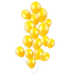Glossy balloons background vector