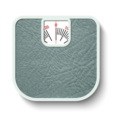 Bathroom wheight scales vector