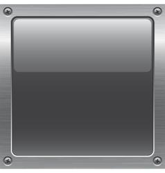 Metal button vector