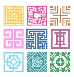 Plaid symbol sets geometric pattern design vector