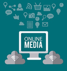 Online media design vector