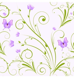 Seamless florals purple vector