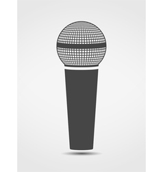 Microphone silhouette vector