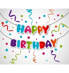 Happy birthday greeting card background vector