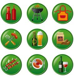 Barbeque buttons vector