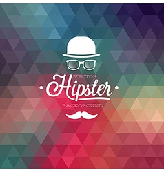 Hipster background cap vector
