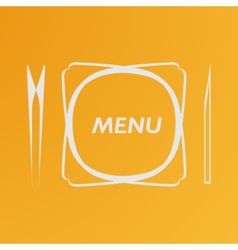 Simple flat cover cafe menu eps vector
