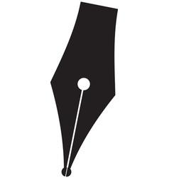 Silhouette pen vector