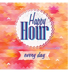 Happy hour vector