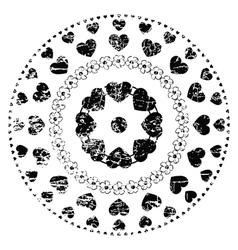 Black and white ornament vector