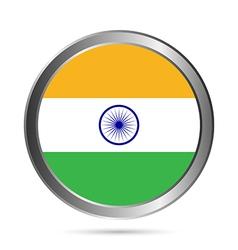 India flag button vector