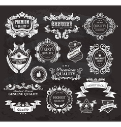Vintage frames and ribbons vector