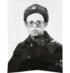 Russian soldier portrait winter form geometric vector