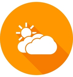 Partly cloudy vector