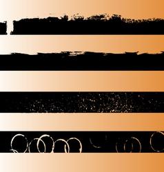 4 black grunge strips 1 vector