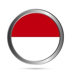 Indonesia flag button vector