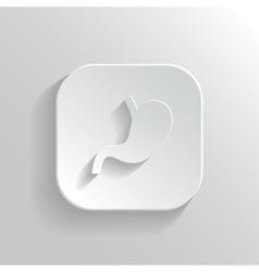 Stomach icon - white app button vector