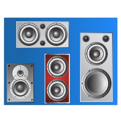 4 loudspeakers 4 vector