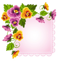 Background with pansy vector