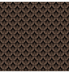 Art deco geometric pattern in brown color vector