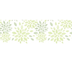 Fabric textured abstract leaves horizontal vector
