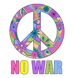 No war colorful background vector