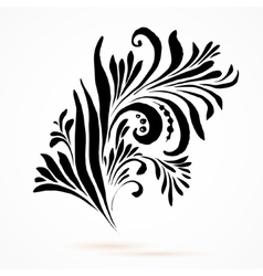 Black and white hohloma vector