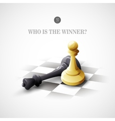 Winning chess concept background vector
