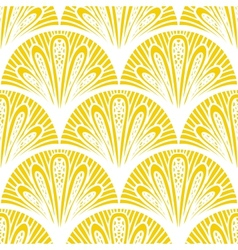 Art deco geometric pattern in bright yellow vector