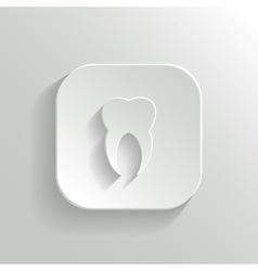 Tooth icon - white app button vector