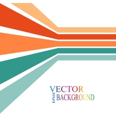 Colorful stripes with 3 d dimensional effect vector