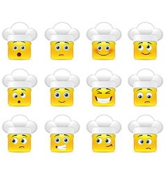 Smilies in the kitchen vector