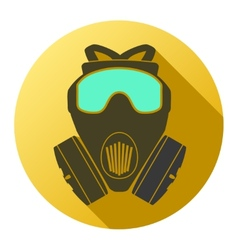 Flat icon of gas mask respirator vector